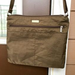 "Baggallini Crossbody Nylon Purse ""Brown"" Shoulder Bag Tr"