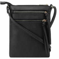 Deluxity | Crossbody Purse Bag | Functional Multi Pocket Dou