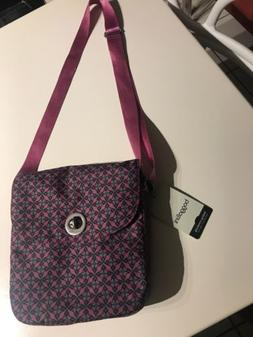 Crossbody Purse Bag Handbag Bagallini Nylon Print, Purple, B