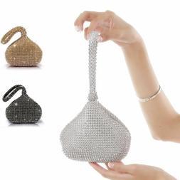 Crystal Rhinestones Bag Evening Clutch Bag Party Wedding Pur