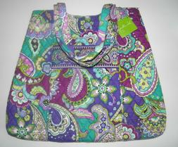 Vera Bradley Curvy Tote Purse Bag HEATHER New with Tags Cott