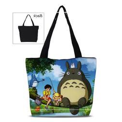 Cute My Neighbor Totoro Anime Canvas Shoulder Bag Tote Purse