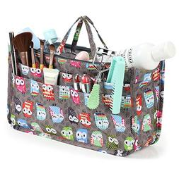 Cosmetic Bag for Women Cute Printing 14 Pockets Expandable M