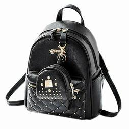 Cute Small Backpack Mini Purse Casual Daypacks Leather for T
