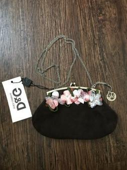 Dolce And Gabbana D & G Leather Purse Handbag Chain Crossbod