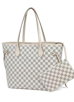 Daisy Rose Checkered tote