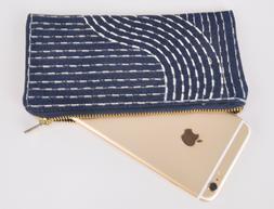 """Denim pouch money bag phone case purses size 7.5""""x4"""" denim f"""