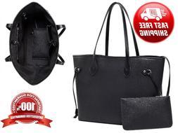 Designer Inspired Tote Shoulder Bag with inner pouch - PU Ve