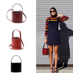Designer Womens Real Leather Handbags Basket Bucket Bag Top