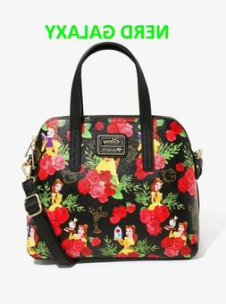 Disney Beauty And The Beast Floral Dome Bag, Satchel, Purse,