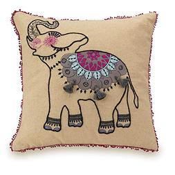 Vera Bradley Dream Tapestry Decorative Pillow, Elephant 18X1