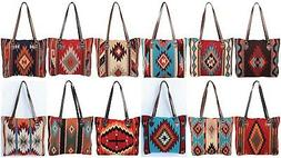 El Paso Saddle blanket Hand Woven Wool PURSES/BAGS/TOTES  EX
