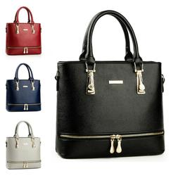 Elegant Women Lady Faux Leather Handbag Purse Shoulder Bag Z