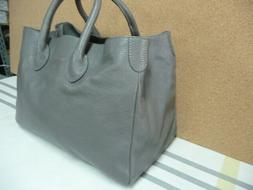 Mark and Graham Elisabetta Slouch Handbag Bag Gray NWOT Purs
