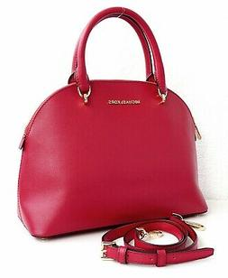 MICHAEL KORS EMMY DOME LARGE SATCHEL SMOOTH LEATHER SHOULDER