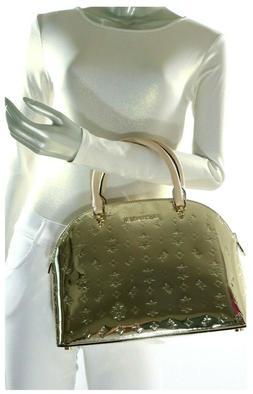 Michael Kors Emmy Large Dome Leather Satchel Shoulder Bag Pa
