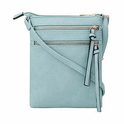DELUXITY Essential Casual Functional Multi Pocket Double Zip