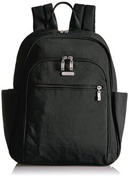 Essential Laptop Backpack with RFID Messenger Bag, Black/San