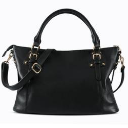 Fashion Large Tote Bag for Women Faux Leather Laptop Handbag