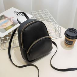 Fashion Small <font><b>Backpack</b></font> Solid Color Women