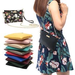 fashion women clutch phone purse leather crossbody