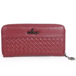 Angel Kiss Fashion Women Leather Wallet Long Card Holder Pur
