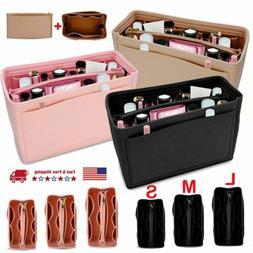 Felt Purse Handbag Organizer Insert Multi pocket Storage Tot