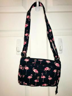 Vera Bradley **FLAMINGO FIESTA** Little Hipster Crossbody ba