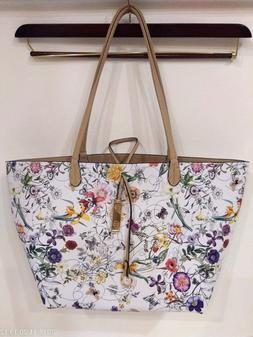 IMOSHION  Floral Handbag Tote Purse - VEGAN ~Gorgeous ~ Whit