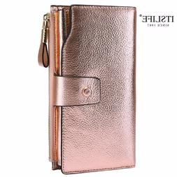 <font><b>ITSLIFE</b></font> 2019 Women Genuine Leather RFID