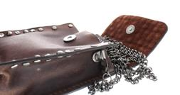 Genuine Leather and Studded Rhinstone Bling Small Cross Body