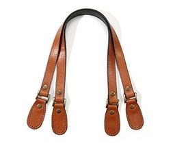 byhands Genuine Leather Crack Pattern Tan Purse Handles , 23