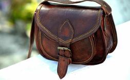 Genuine leather saddle bag gift for girls women satchel shou