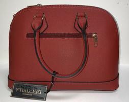 Genuine Deluxity Los Angeles Red 2 Piece Handbag/Wallet  Lad