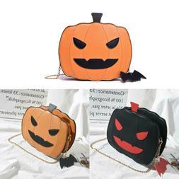 girl halloween pumpkin shaped demon messenger shoulder
