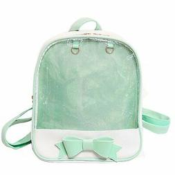 LA CHA Girl's Candy Backpack Purses with Bowknot Clear Ita B