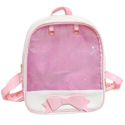 LA CHA Girls Candy Backpack Purses with Bowknot Clear Backpa