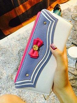Girls Cute Multi Card Case zipper Sailor Moon Kawaii Wallet