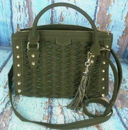 Izzy And Ali Green Leather Handbag Purse *New*