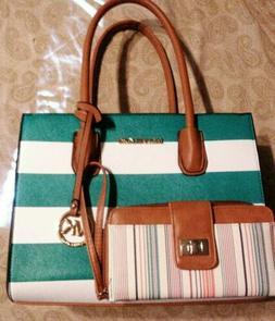 MIchael Kors Handbag and Wallet set. New with some tags.
