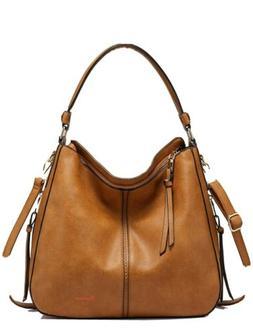 Realer Handbags for Women Medium Designer Hobo Bag Bucket Pu