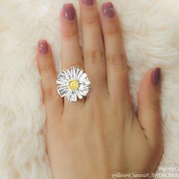 Handmade Daisy Flower, Greek Nature Inspired, Open, one size