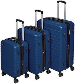 AmazonBasics Hardside Spinner Luggage - 3 Piece Set , Navy
