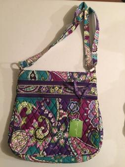 Vera Bradley Heather Triple Zip Hipster Purse