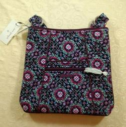 Vera Bradley Hipster Lilac Medallion Crossbody Handbag Shoul