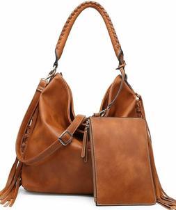 Shomico Hobo Bag For Women Boho Purses And Handbags Fringe B