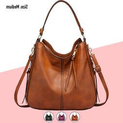 Hobo Bag Women Faux Leather Purses Handbags Shoulder Crossbo