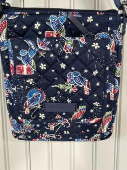 🦉 VERA BRADLEY Iconic RFID Mini HIPSTER Crossbody Purse B