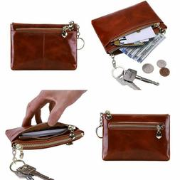 Itslife Women'S Rfid Leather Coin Purse Zip Small Wallet Cha