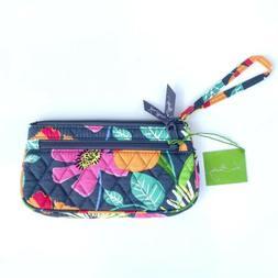 Vera Bradley Jazzy Blooms Wristlet NWT Purse Wallet Gray Flo